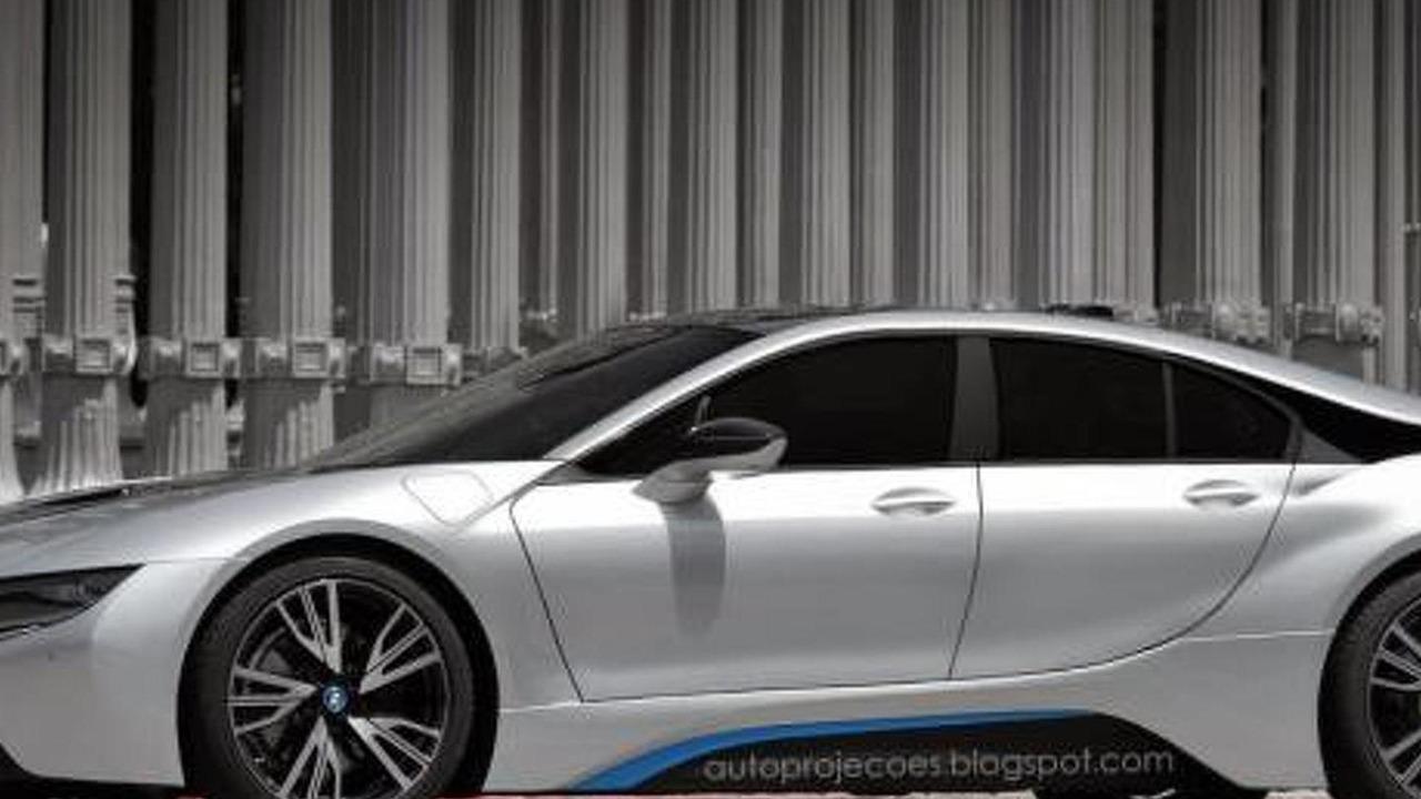 BMW i8 four-door coupe rendering