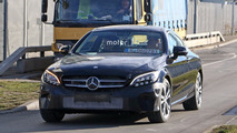 2018 Mercedes C-Class Coupe facelift spy photos