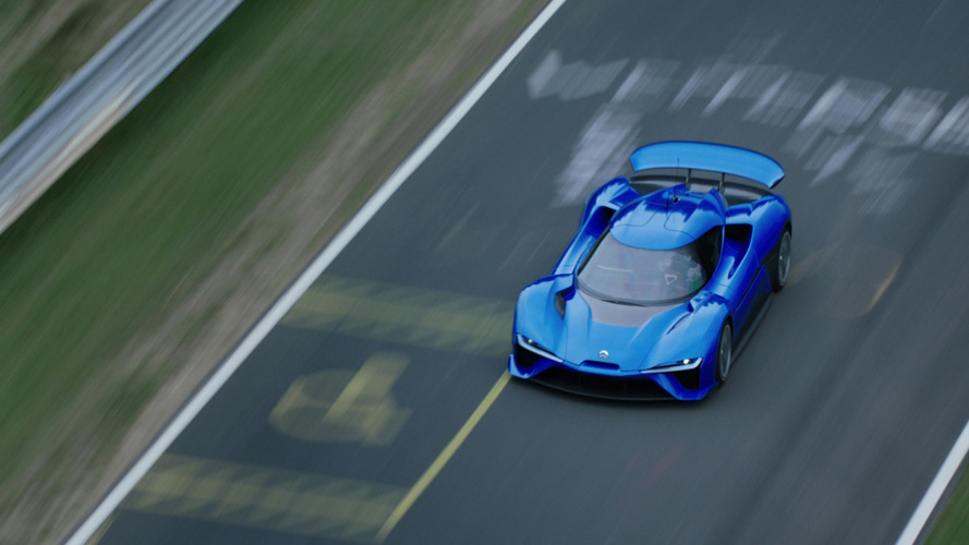 Nio EP9 claims autonomous car lap record at U.S. F1 circuit