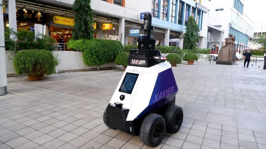 Singapore Deploys Robots To Shame Poorly-Parked Motorcycles