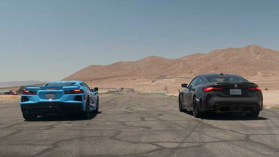 BMW M4 Competition Drag Races Corvette C8 In Engine Displacement Duel