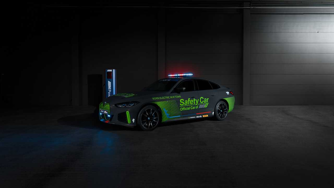 BMW i4 M50 MotoE Safety Car - Front Left Angle View