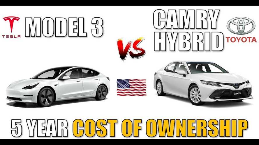 UPDATE: Tesla Model 3 Vs Toyota Camry Hybrid: 5-Year Cost Of Ownership