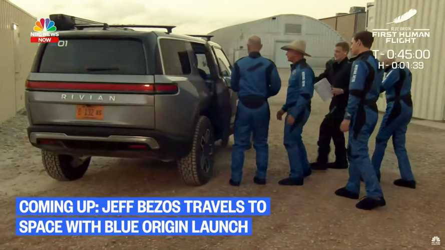 Rivian R1S Rocket Taxi For Bezos' Blue Origin