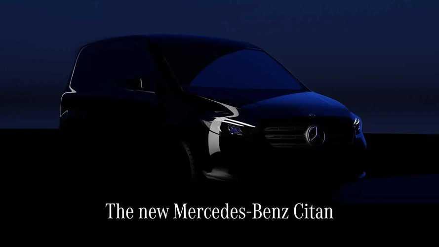 2022 Mercedes Citan Teased Ahead Of August 25 Debut