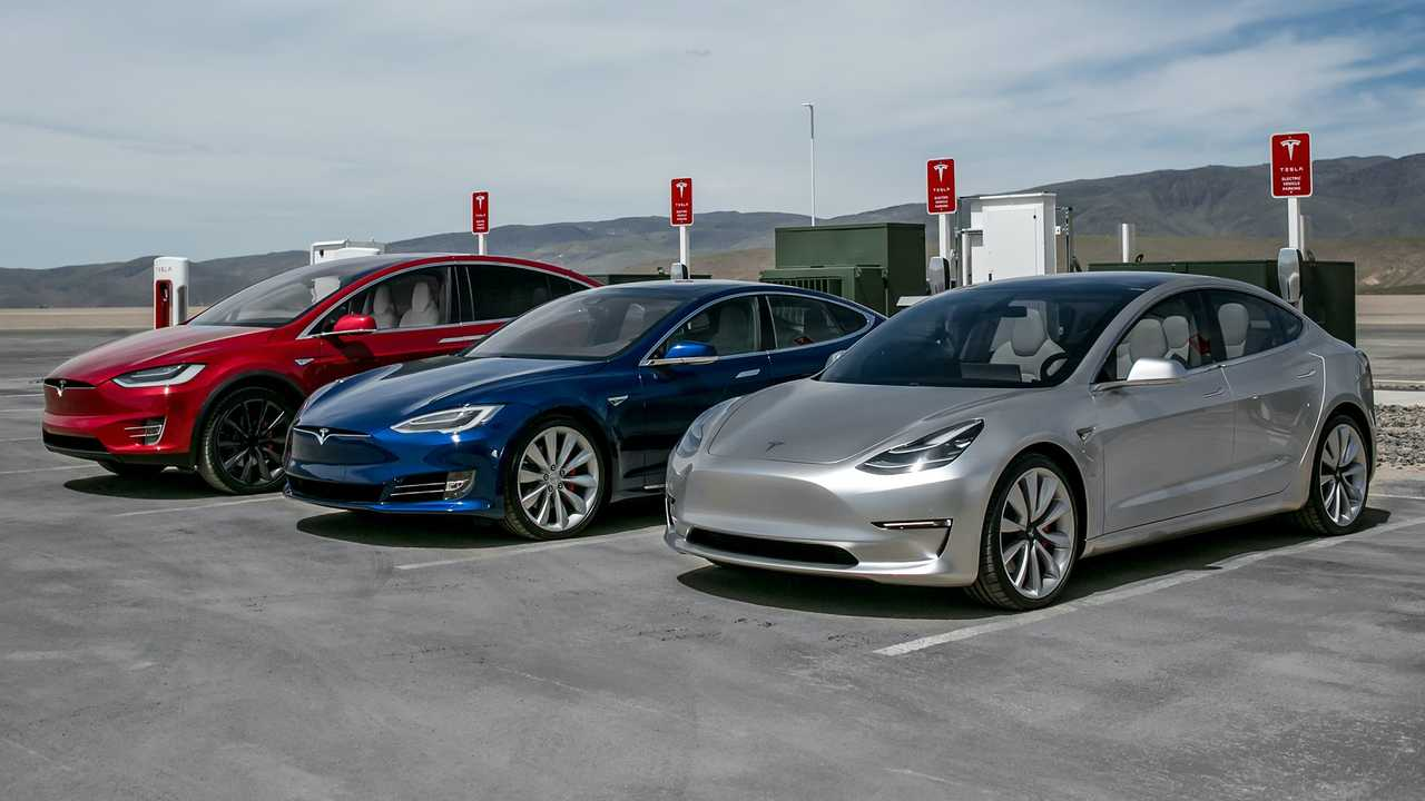 Tesla Model 3, Model S and Model X