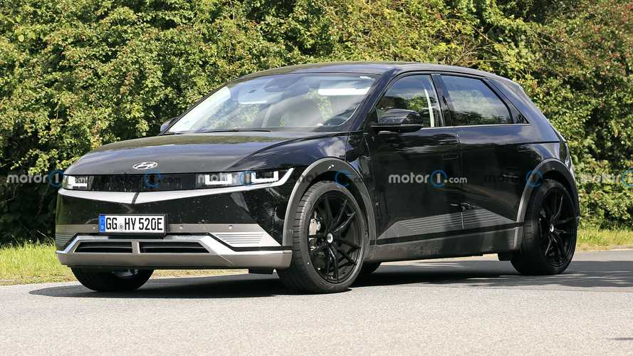 Amped up Hyundai Ioniq 5 N EV crossover spied for the first time