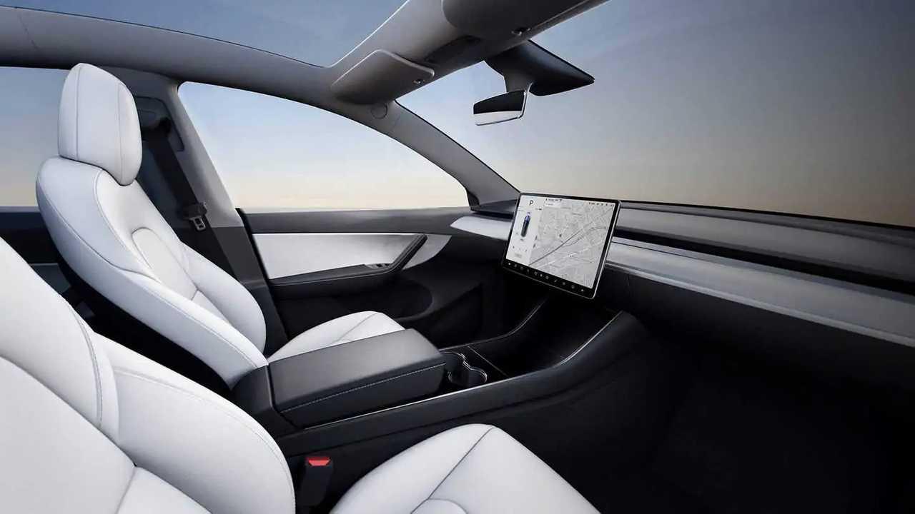Tesla Interior No Wheel