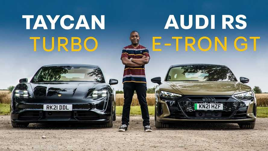 Watch Audi RS E-Tron GT And Porsche Taycan Turbo Compared On Road