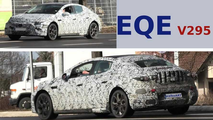Mercedes-Benz EQE Camouflaged Prototype Seen Testing