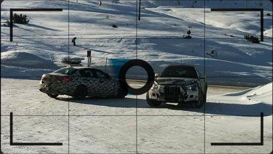 Alfa Romeo Giulia e Maserati Levante, test invernali a Livigno