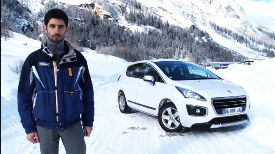 Peugeot 3008, la prova sulla neve dell'ibrido diesel [VIDEO]