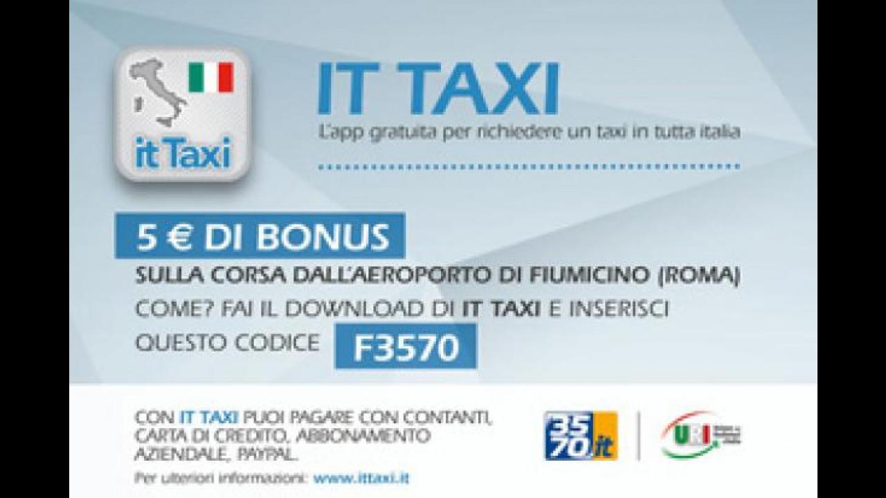 [Copertina] - IT Taxi lancia una promo su Roma Fiumicino
