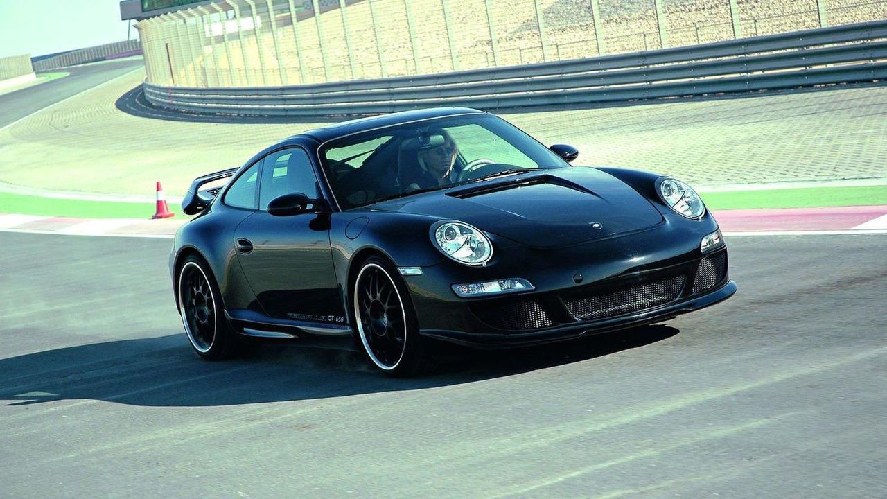 Uwe Gemballa driving Porsche 911 GT 650, company photos, 25.02.2010