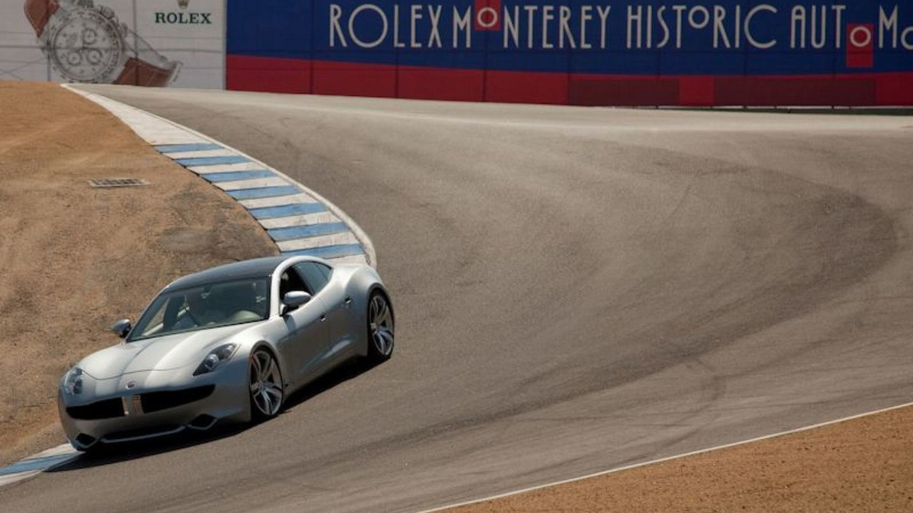 Fisker Karma makes driving debut at Laguna Seca