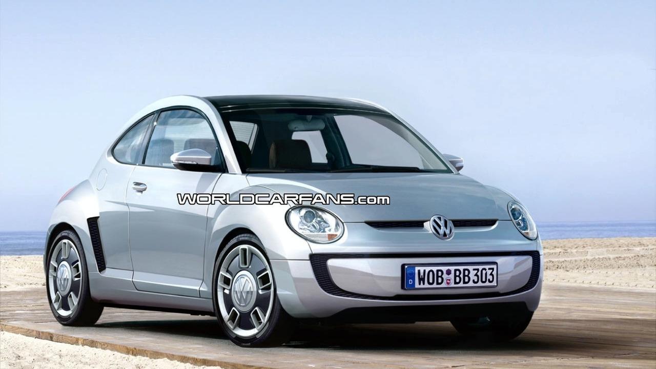 VW Beetle Up citycar artist rendering