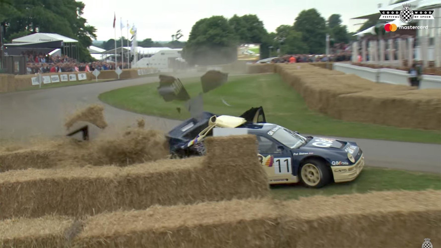 Watch This Ford RS200 Evo Crash On The Hill At Goodwood