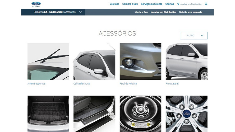 Ford adota novo padrão global para o site brasileiro