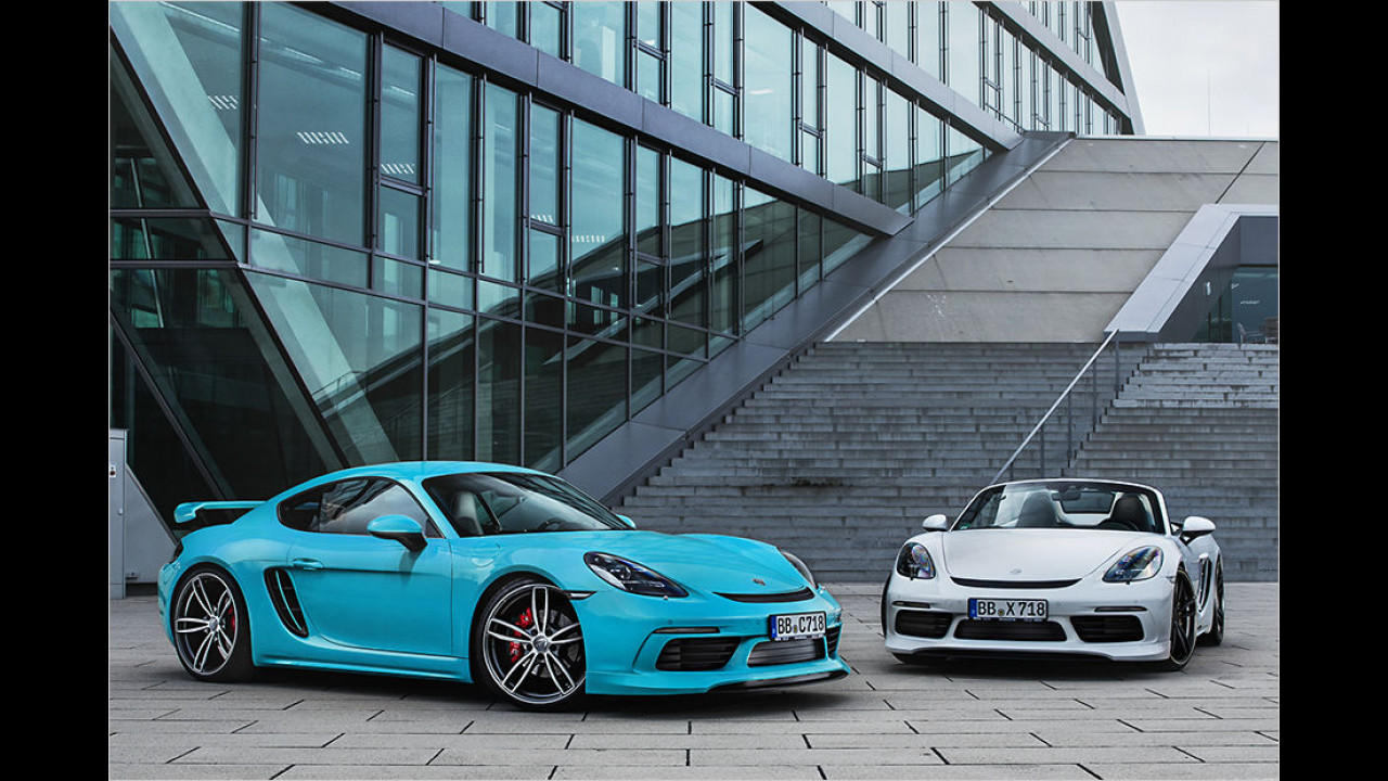 Techart 718 Boxster S und Cayman S