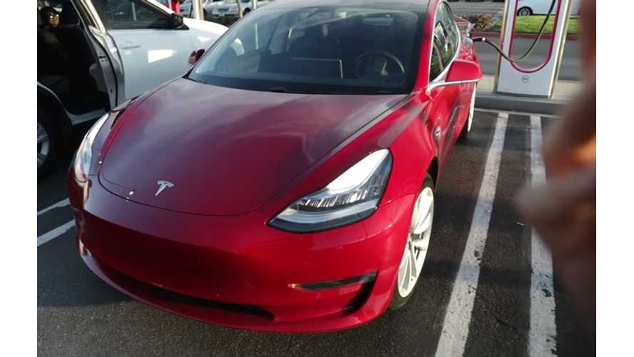 Watch What Happens When A Tesla Model 3 Battery Hits 0%