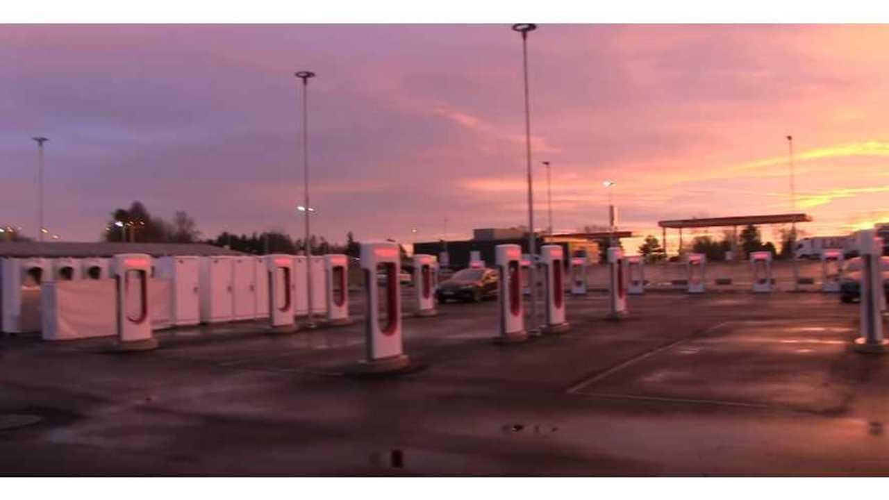 Rygge Supercharger in Norway - 34 (42) stalls (source: Bjørn Nyland)