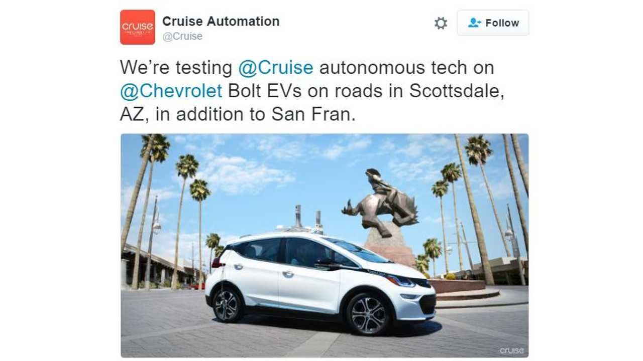 Autonomous Chevrolet Bolts Now Testing In Arizona