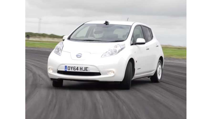 Nissan LEAF - Will It Drift? (video)