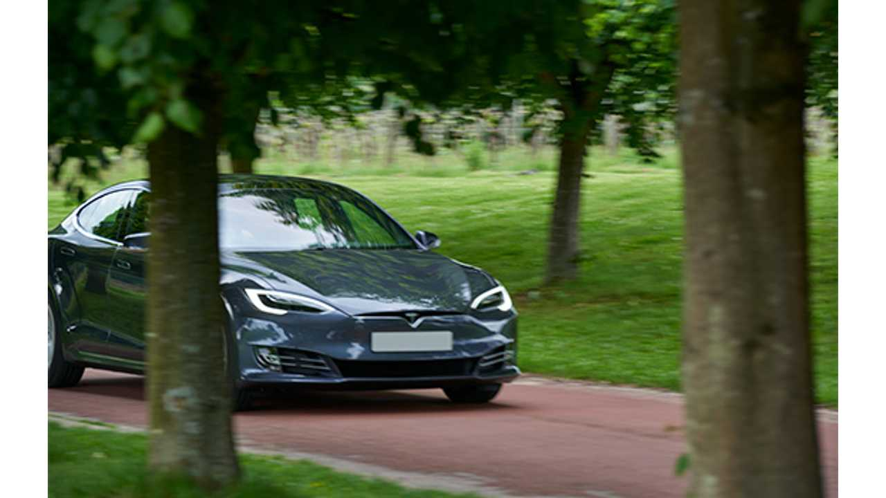 <em>A Tesla Model S in the EV Hire fleet (Source: <a href=