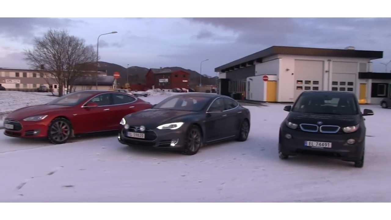 Bjorn Nyland Conducts Energy Consumption Test On Tesla Model S P85D, 70D and BMW i3 - Video