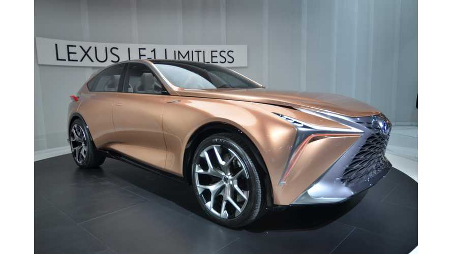 Lexus LF-1 Limitless Concept Could Be Electric, Plug-In Hybrid, Fuel Cell & More