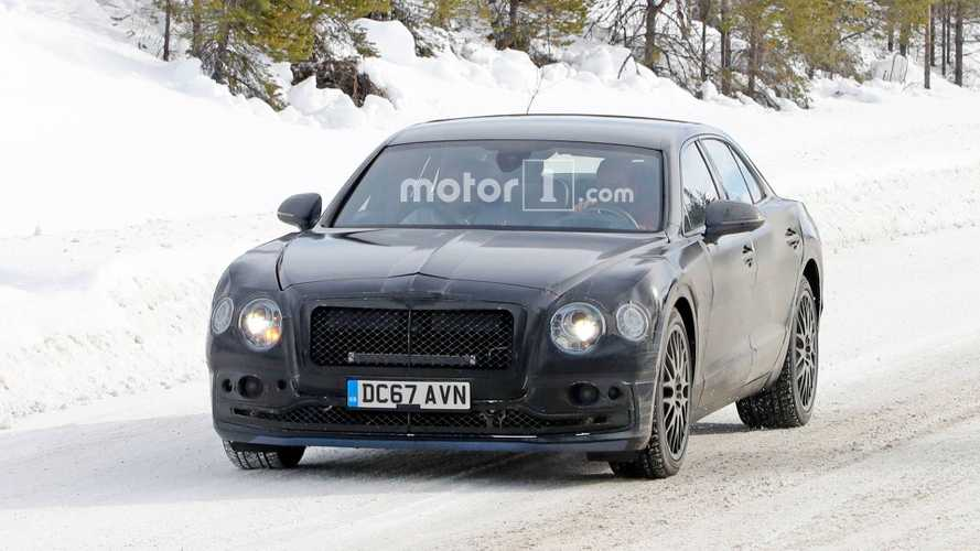 Bentley Flying Spur Plug-In Hybrid Spied