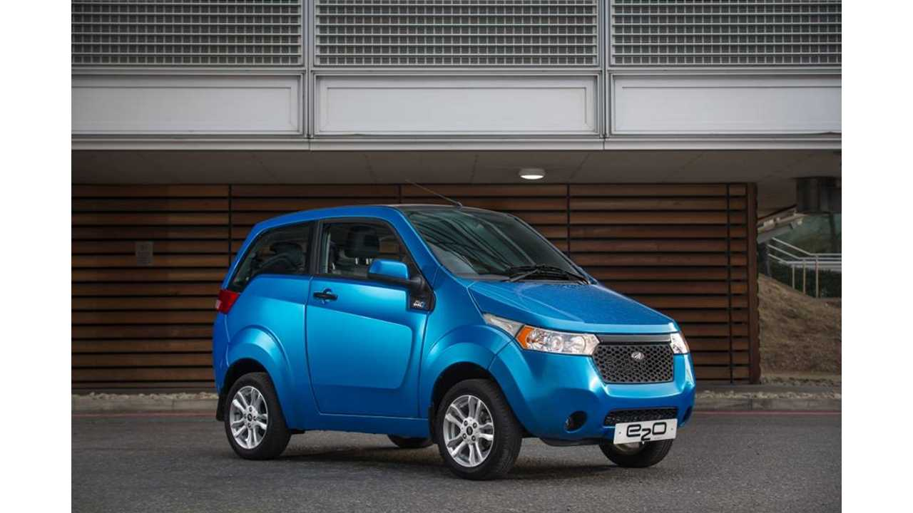 Mahindra e2o Electric Car Now On Sale In UK
