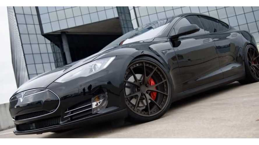 Tesla Model S P85D Modded With Niche Wheels - Video