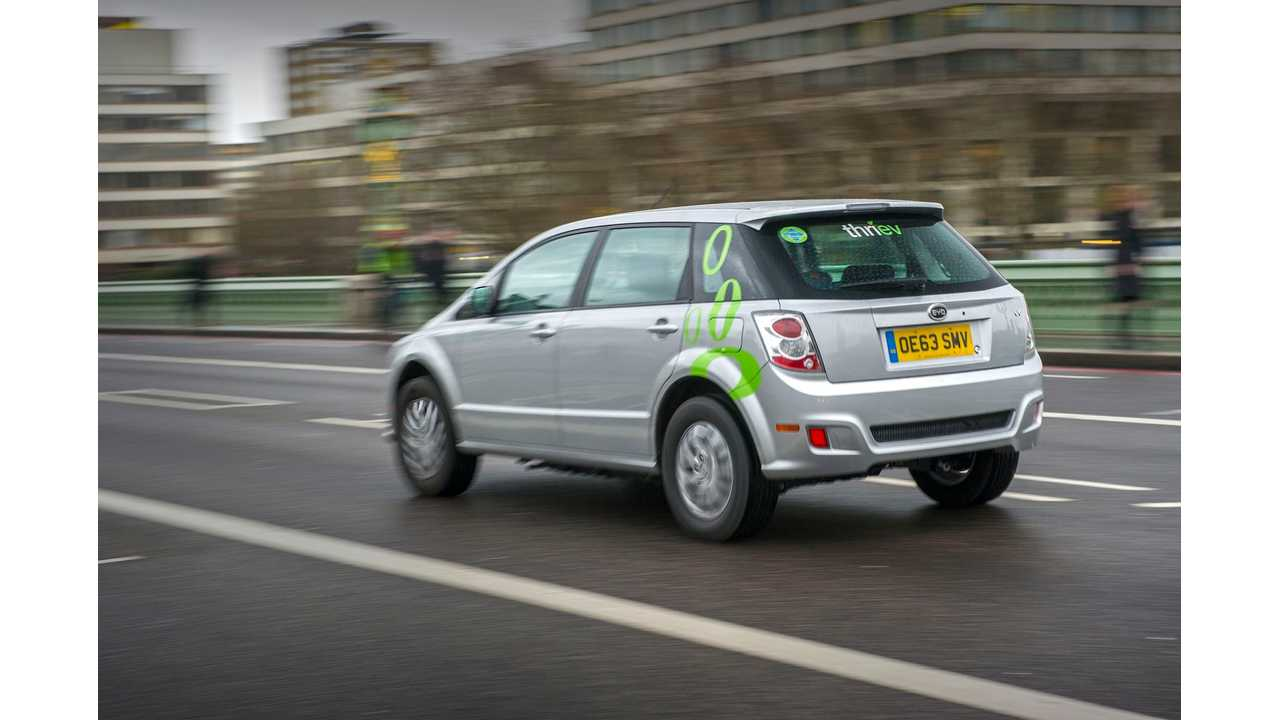 BYD Seeks To Expand Electric Cars For Hire Program In London