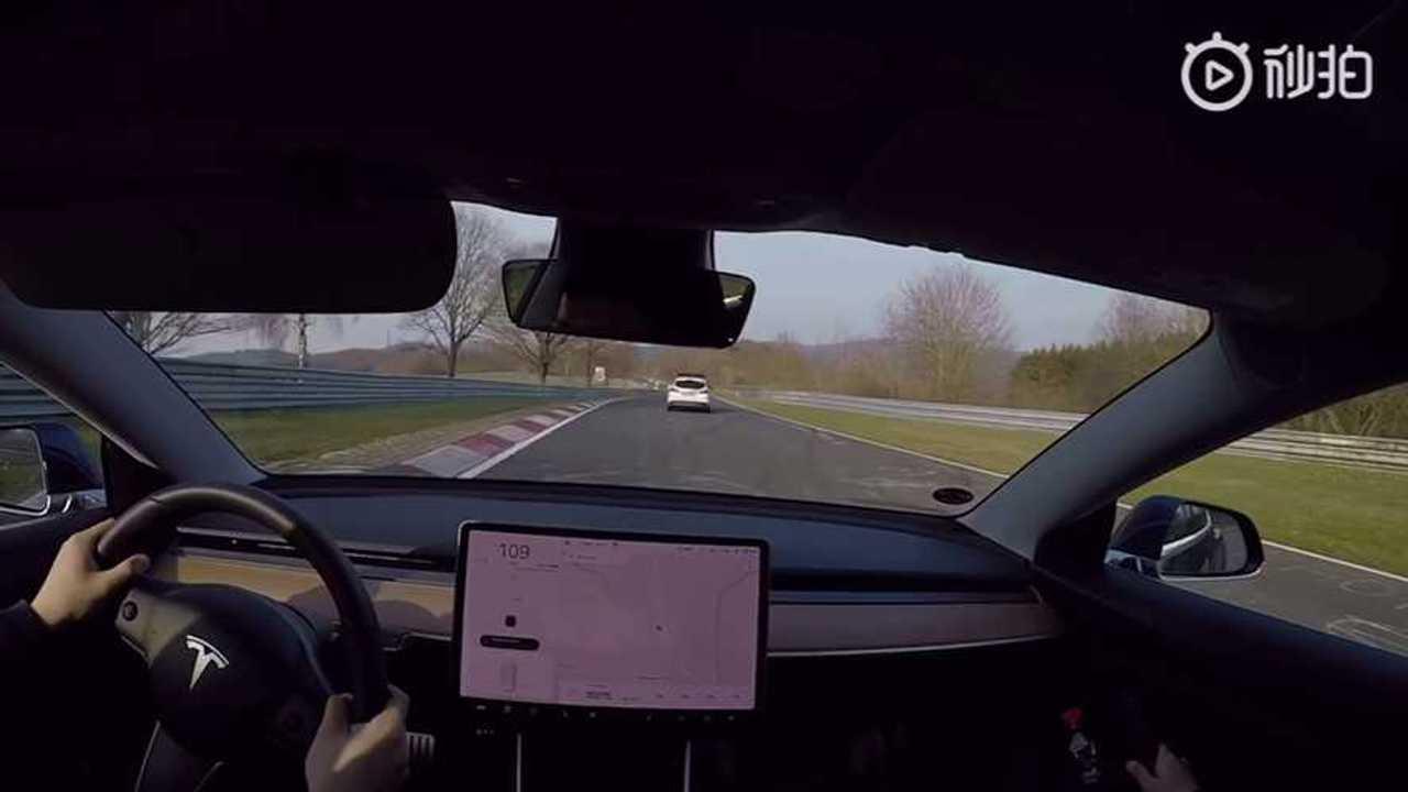 Watch Tesla Model 3 Performance Lap The Nurburgring Video