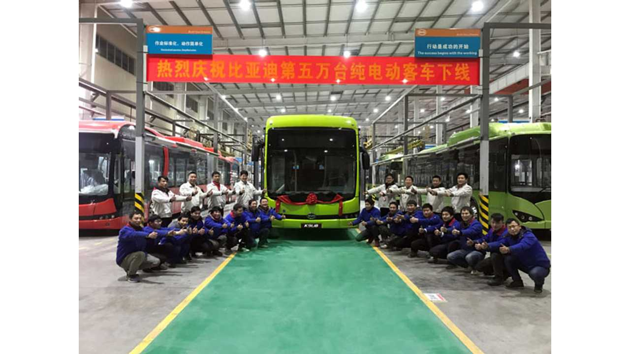 BYD Produced 50,000 Electric Buses In Nine Years