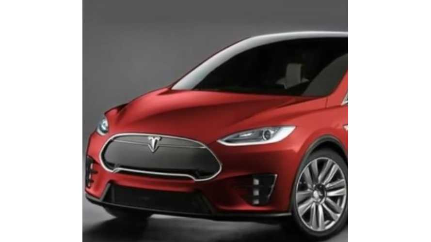 Production Tesla Model X Rendering - Video