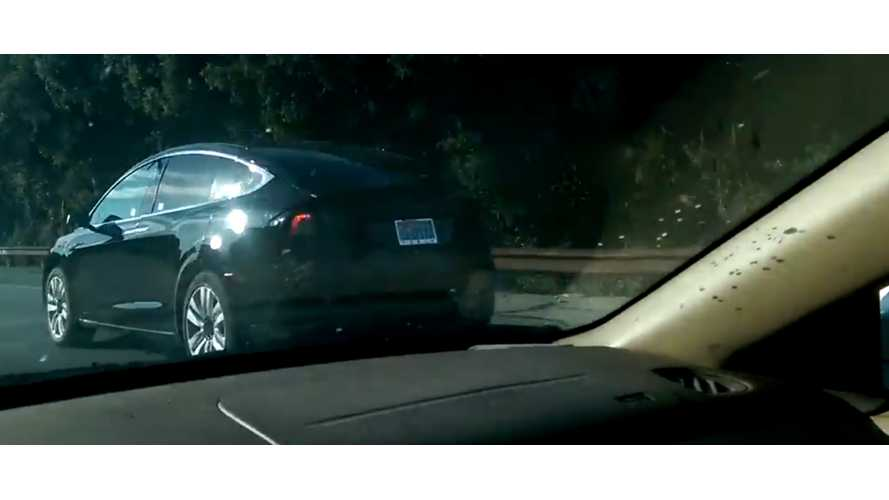 Spotted: Tesla Model X on Highway 280 - Video
