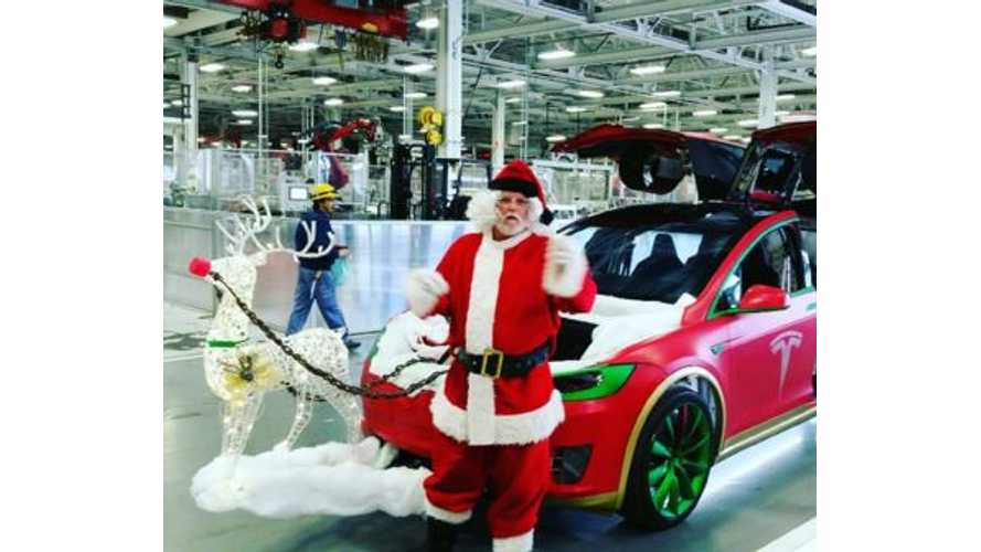 Merry Christmas Featuring The Tesla Model X