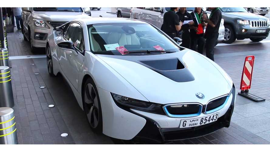 Rent A BMW i8 At Mall In Dubai - Video