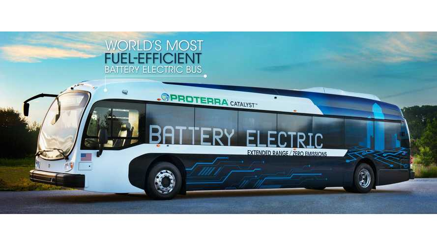 Proterra Shows Battery Pack Replace Operation - Video
