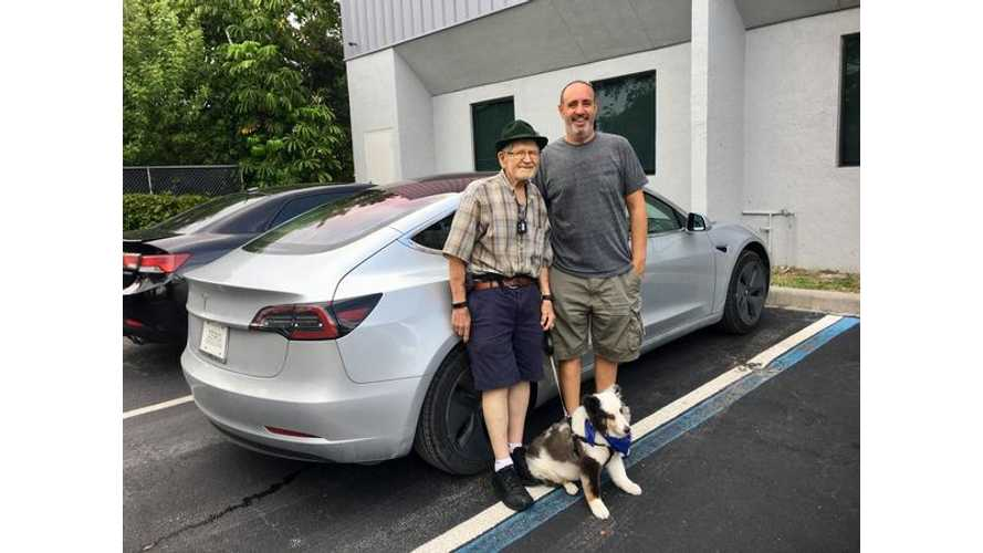 Tesla Model 3 Driven Cross-Country By World's Oldest(?) Owner