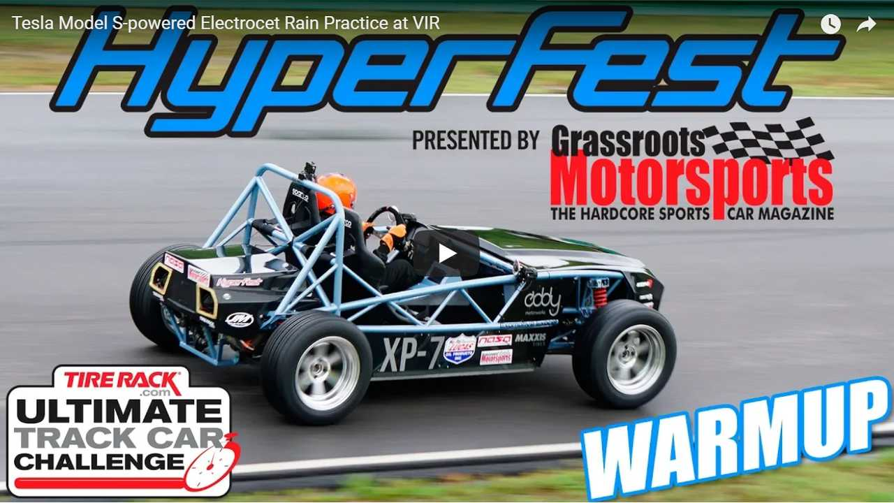 Watch This Tesla-Powered Electrocet Tackle A Wet Track