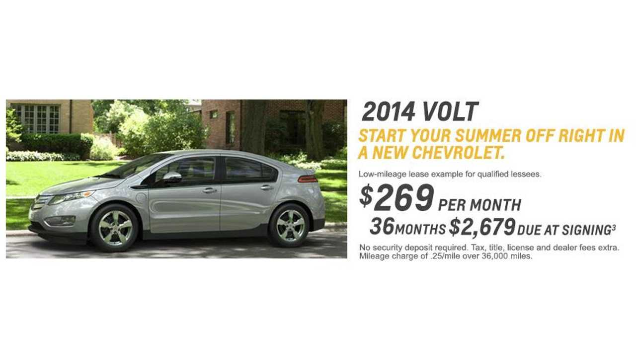 Chevy Volt Lease >> 2014 Chevy Volt Lease Deal