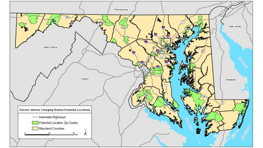 Maryland's Fast Charging Network To Include CHAdeMO And CCS At Up To 40 Sites