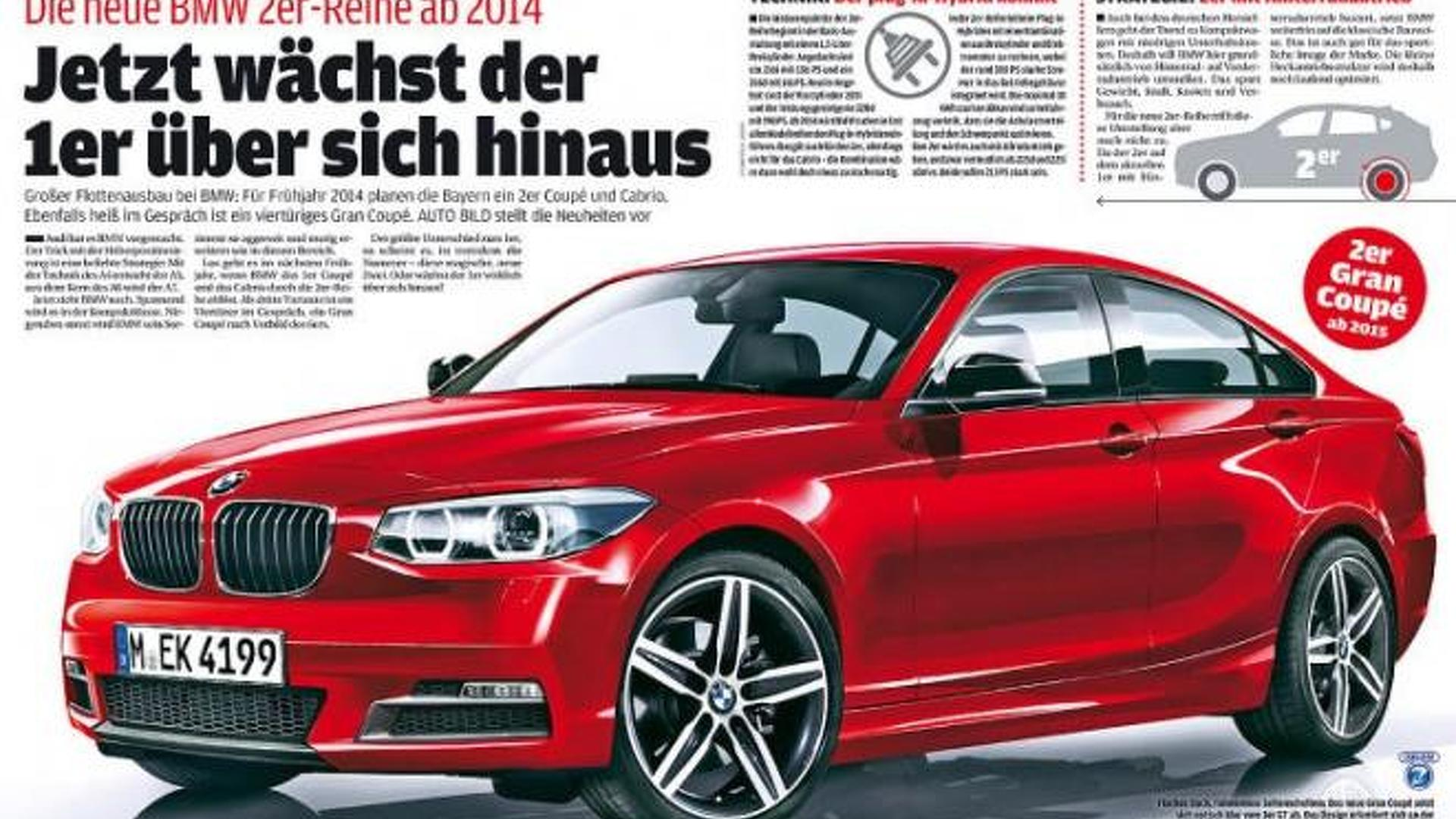 Bmw 2 Series Grancoupe Rendered M2 Coupe And Grancoupe In The Works
