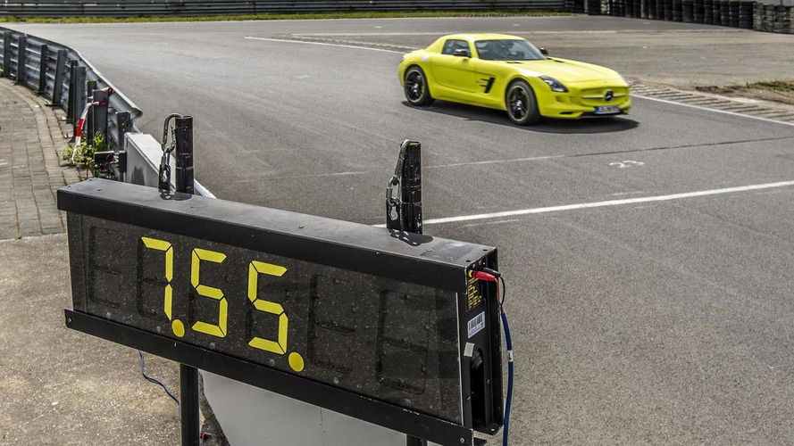 Mercedes SLS AMG Electric Drive sets a new record at the Nurburgring