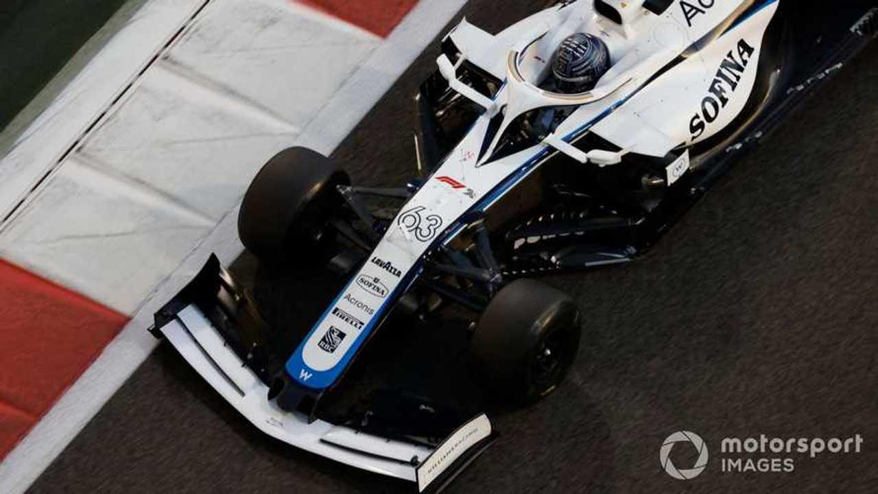 George Russell at Abu Dhabi GP 2020