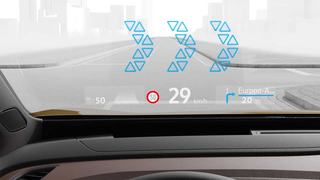 VWs neues Head-up-Display mit Augmented Reality
