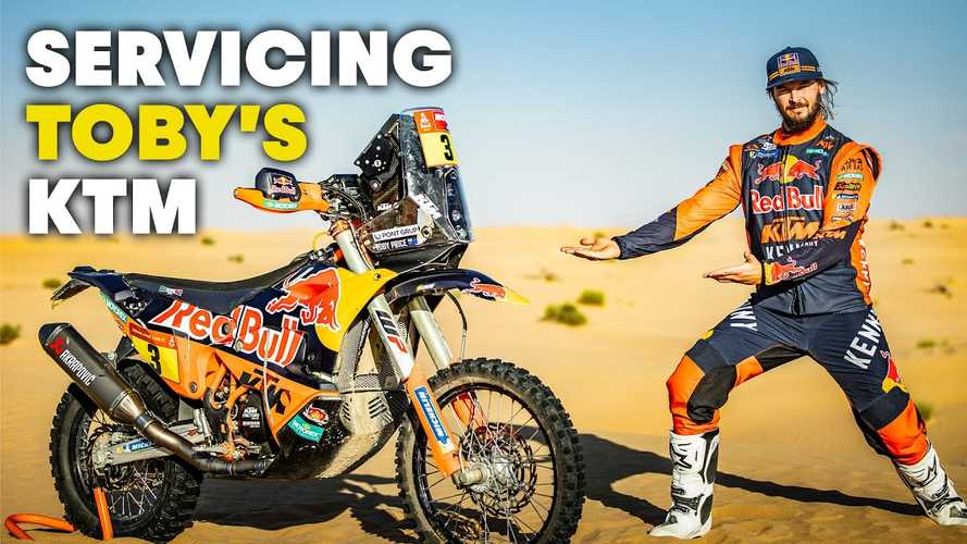 Red Bull Gives Inside Look At Servicing Dakar KTM 450 Rally